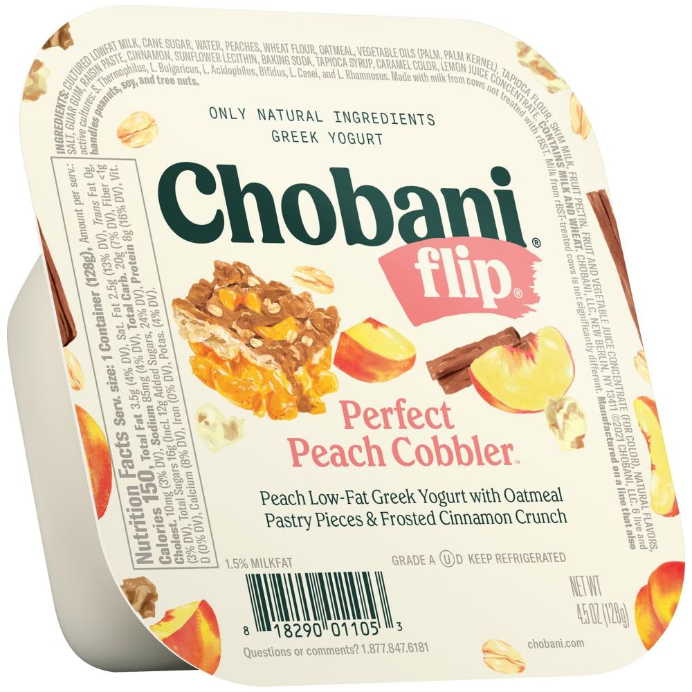 Chobani Flip Perfect Peach Cobbler Low