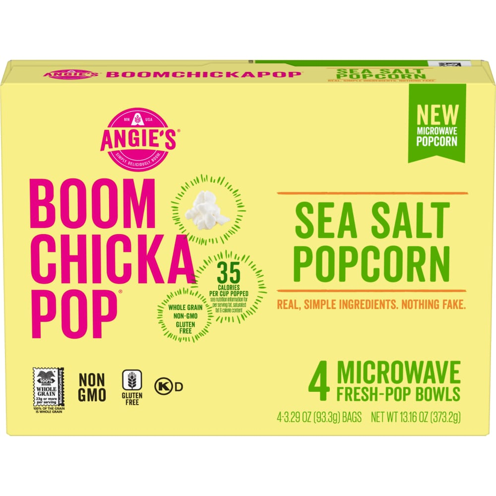Fry S Food Stores Angie S Boom Chicka Pop Sea Salt Microwave Popcorn 4 Count 4 Ct 3 29 Oz