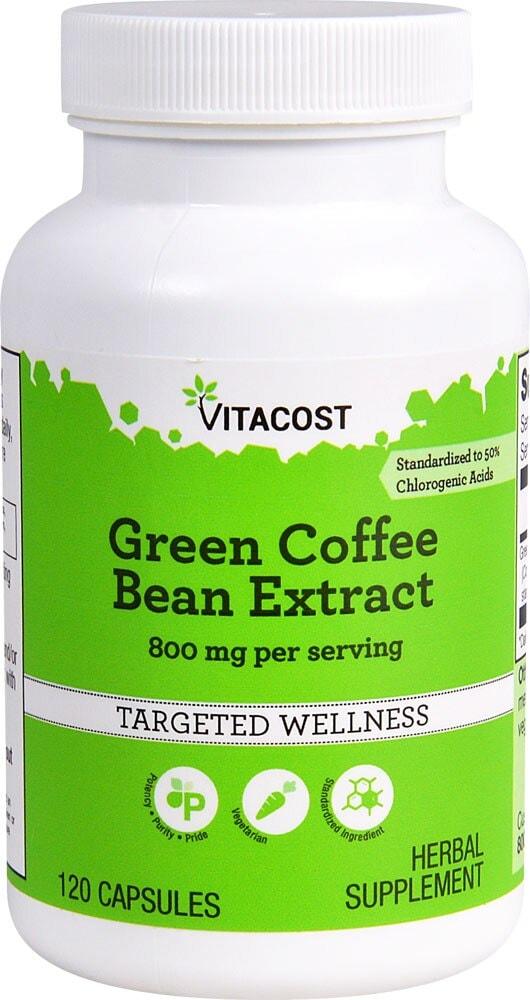 Kroger Vitacost Green Coffee Bean Extract Herbal Supplement