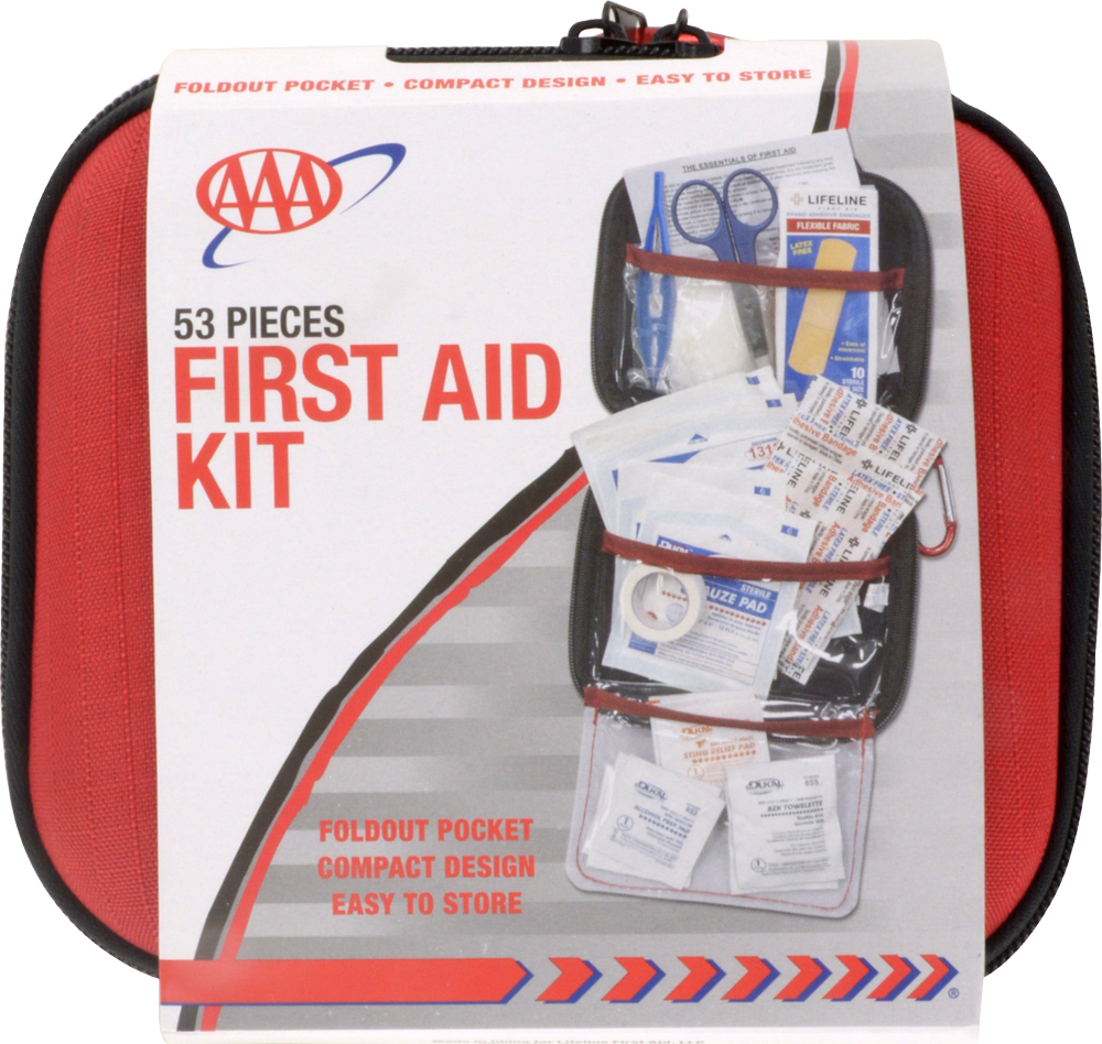 King Soopers - Lifeline AAA 53-Piece First Aid Kit - Red/White