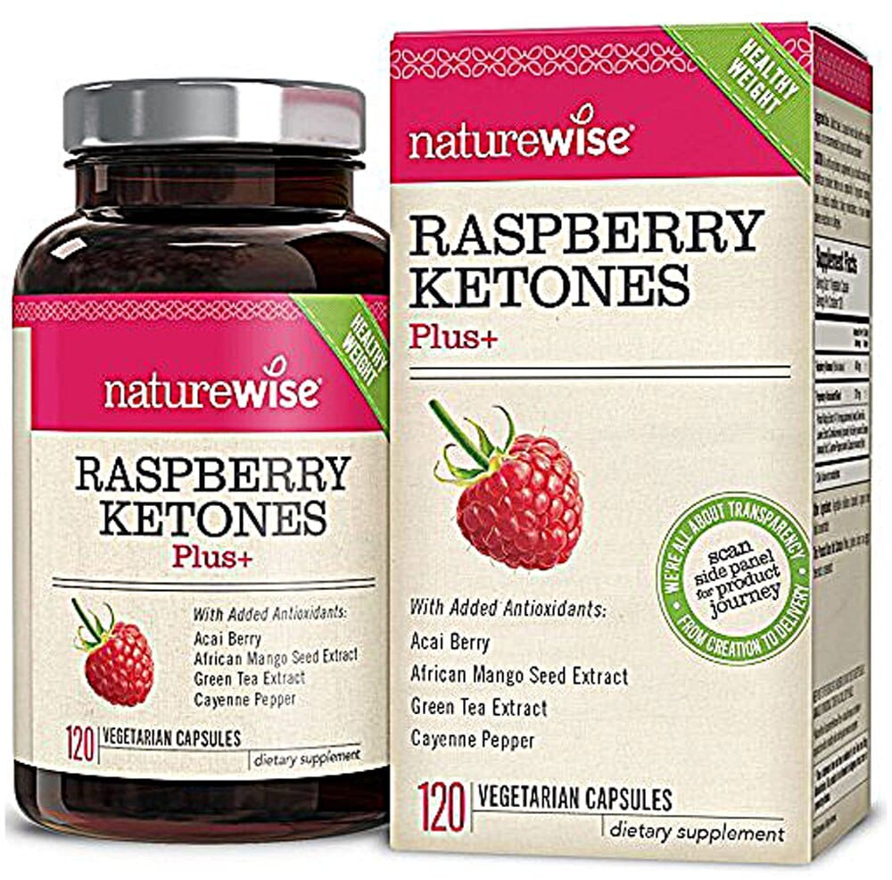 Kroger Naturewise Raspberry Ketones Plus 120 Vegetarian Capsules