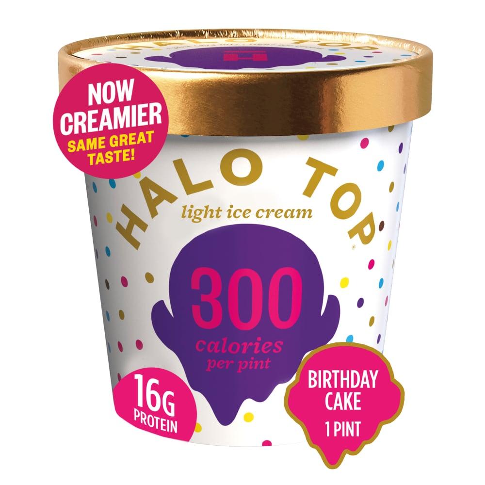 Halo Top Creamery Birthday Cake Ice Cream Perspective Front