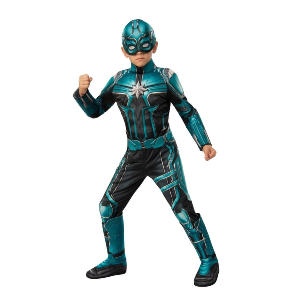 King Soopers Rubies 404613 Girls Captain Marvel Yon Rogg Deluxe Child Costume Large 1 Deluxe captain marvel hero suit child costume even with my back against the wall—i don't give up! carol denvers aka captain america will never stop fighting for whats right and noble. king soopers