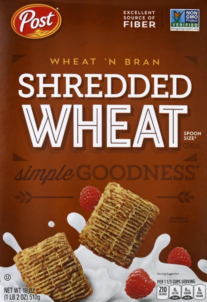 Wheat 'N Bran Shredded Wheat Cereal