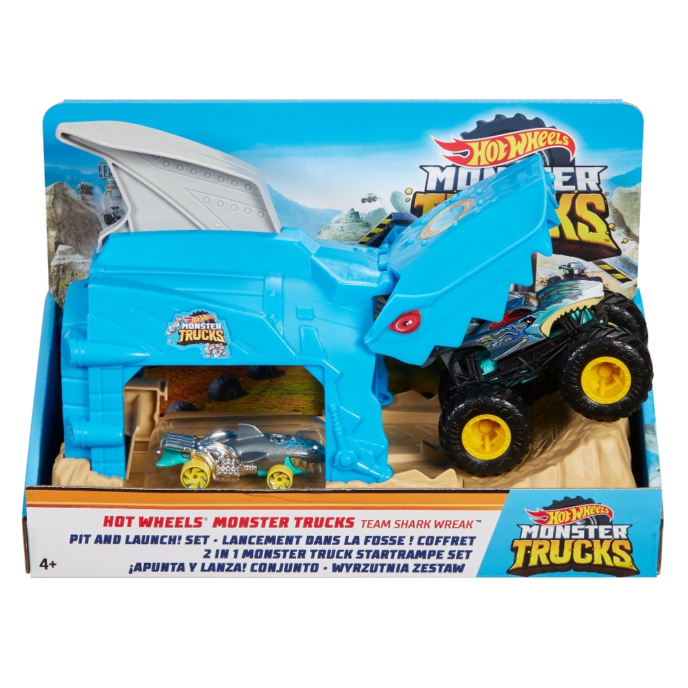 Kroger Mattel Hot Wheels Monster Trucks Pit And Launch Shark Wreak Play Set 1 Ct