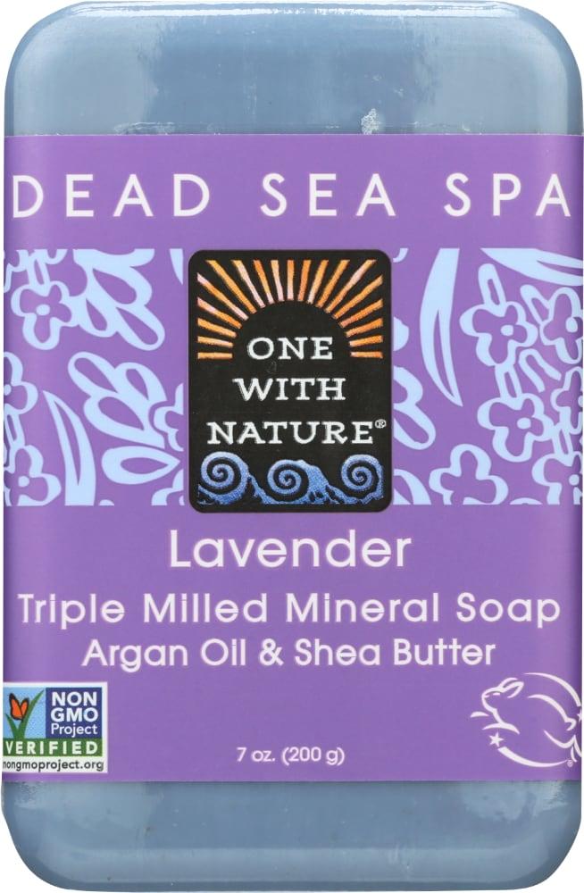 One With Nature Dead Sea Salt Lavender Soap, 7 Oz - QFC
