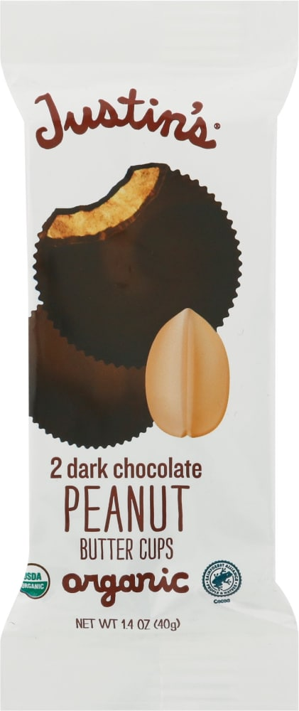 Justin S Organic Dark Chocolate Peanut Butter Cups 1 4 Oz Fry S Food Stores