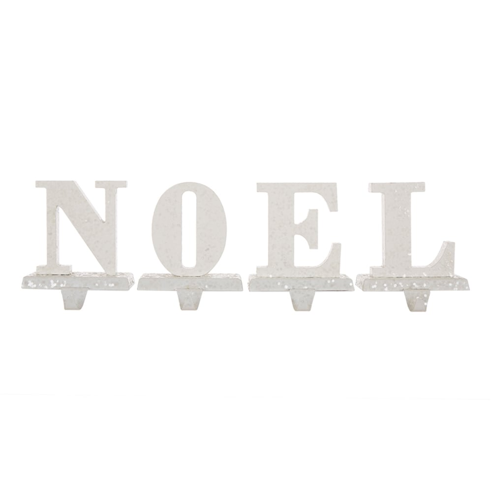 Christmas SANTA NOEL STOCKING HOLDER LED Acrylic Holly Mantel 30433