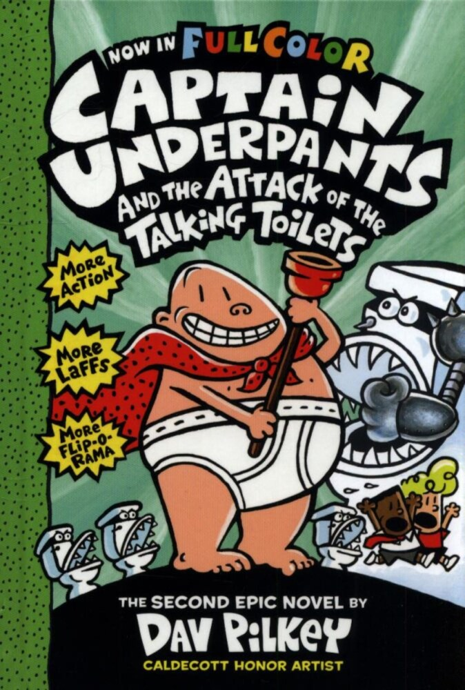 Kroger Captain Underpants And The Attack Of The Talking Toilets Full Color By Dav Pilkey 160 Pg
