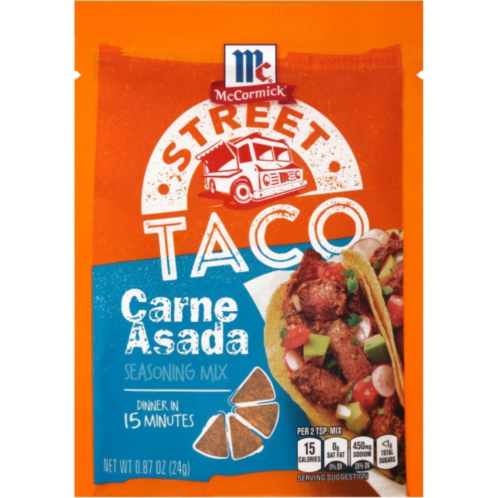 Mccormick Carne Asada Street Taco Seasoning Mix Packet 12 Count 0 87 Oz Dillons Food Stores