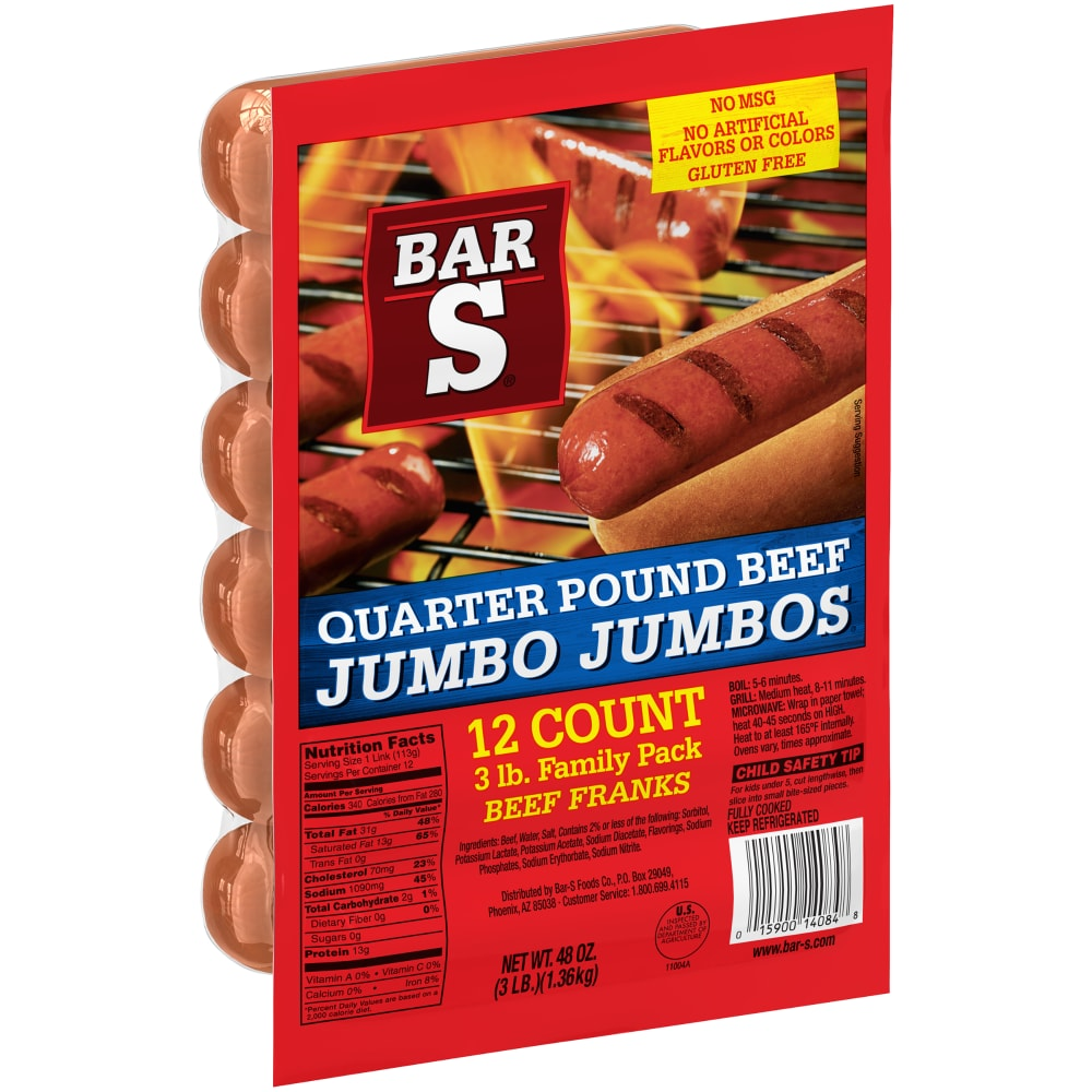 Dillons Food Stores - Bar-S Quarter Pound Beef Jumbo Jumbo Franks 12